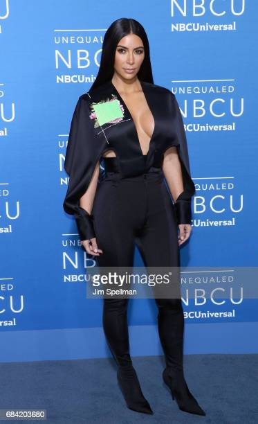 TV personality Kim Kardashian attends the 2017 NBCUniversal Upfront at Radio City Music Hall on May 15 2017 in New York City
