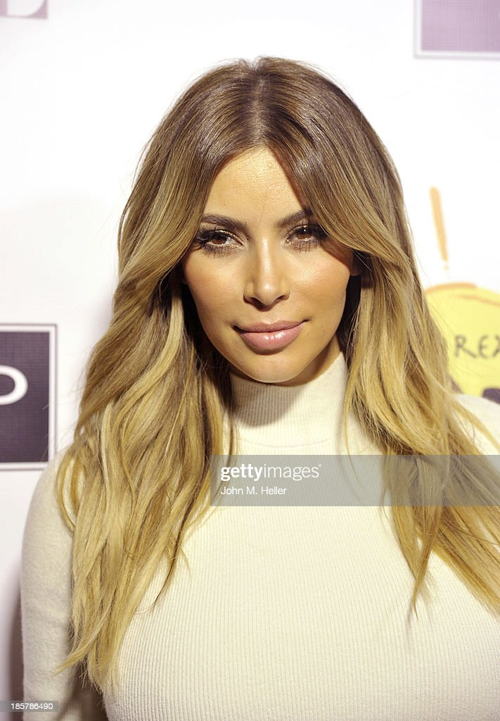 TV personality Kim Kardashian attends the Dream For Future Africa Foundation Inaugural Gala Honoring Franca Sozzani of VOGUE Italia at Spago on October 24, 2013 in Beverly Hills, California.