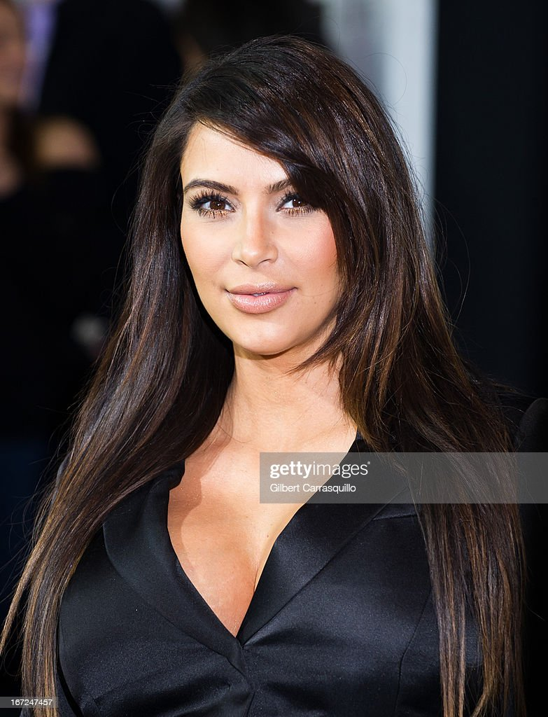 TV personality <a gi-track='captionPersonalityLinkClicked' href=/galleries/search?phrase=Kim+Kardashian&family=editorial&specificpeople=753387 ng-click='$event.stopPropagation()'>Kim Kardashian</a> attends the E! 2013 Upfront at The Grand Ballroom at Manhattan Center on April 22, 2013 in New York City.