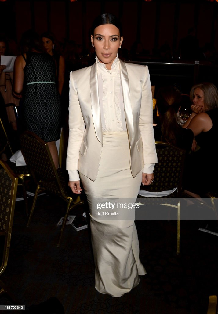 TV personality <a gi-track='captionPersonalityLinkClicked' href=/galleries/search?phrase=Kim+Kardashian&family=editorial&specificpeople=753387 ng-click='$event.stopPropagation()'>Kim Kardashian</a> attends USC Shoah Foundation's 20th Anniversary Gala at the Hyatt Regency Century Plaza on May 7, 2014 in Century City, California.