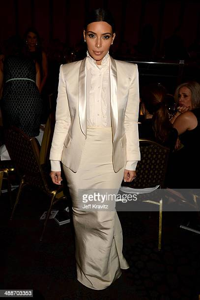 TV personality Kim Kardashian attends USC Shoah Foundation's 20th Anniversary Gala at the Hyatt Regency Century Plaza on May 7 2014 in Century City...
