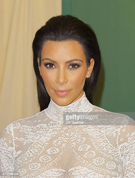 Personality Kim Kardashian signs copies cf 'Selfish' at Barnes Noble 5th Avenue on May 5 2015 in New York City