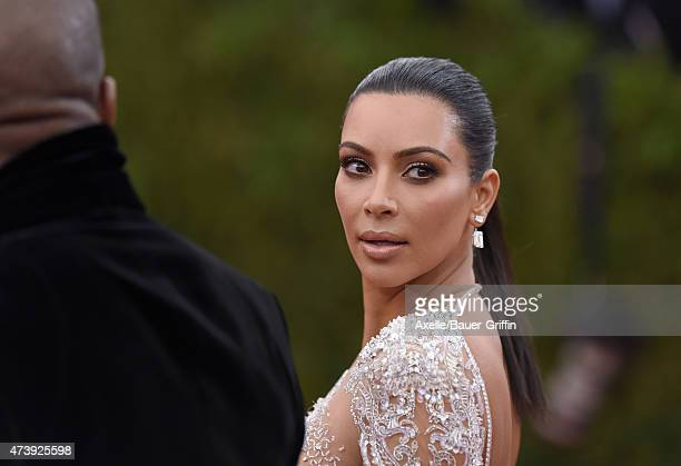 TV personality Kim Kardashian West attends the 'China Through The Looking Glass' Costume Institute Benefit Gala at the Metropolitan Museum of Art on...