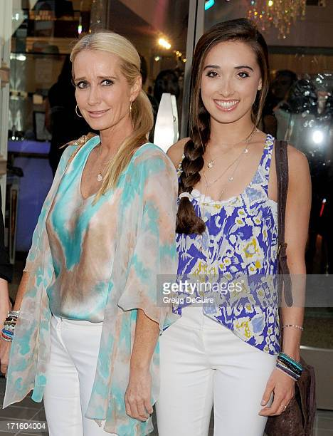 TV personality Kim Richards and daughter Kimberly Jackson arrive at a fashion fundraiser hosted by Kyle Richards benefiting Children's Hospital Los...