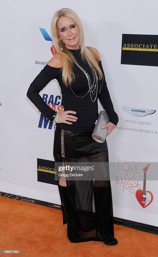 TV personality <a gi-track='captionPersonalityLinkClicked' href=/galleries/search?phrase=Kim+Richards&family=editorial&specificpeople=689572 ng-click='$event.stopPropagation()'>Kim Richards</a> arrives at the 20th Annual Race To Erase MS Gala 'Love To Erase MS' at the Hyatt Regency Century Plaza on May 3, 2013 in Century City, California.