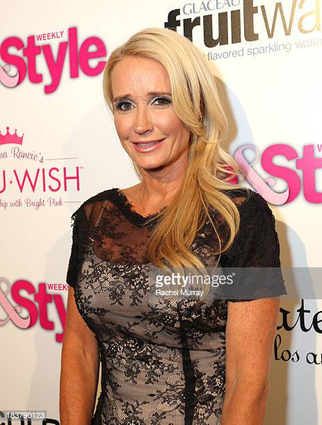 TV personality Kim Richards attends Hollywood in Bright Pink presented by Life Style hosted by Giuliana Rancic at Bagatelle on October 9 2013 in Los...
