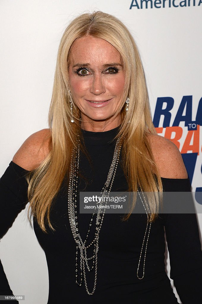 TV Personality Kim Richards attends the 20th Annual Race To Erase MS Gala 'Love To Erase MS' at the Hyatt Regency Century Plaza on May 3, 2013 in Century City, California.
