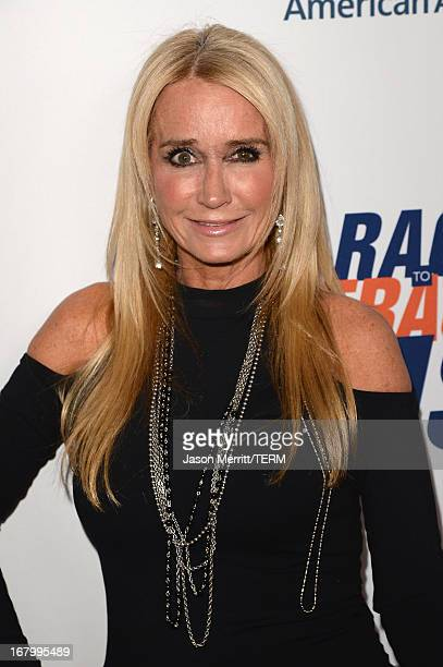 Personality Kim Richards attends the 20th Annual Race To Erase MS Gala 'Love To Erase MS' at the Hyatt Regency Century Plaza on May 3 2013 in Century...