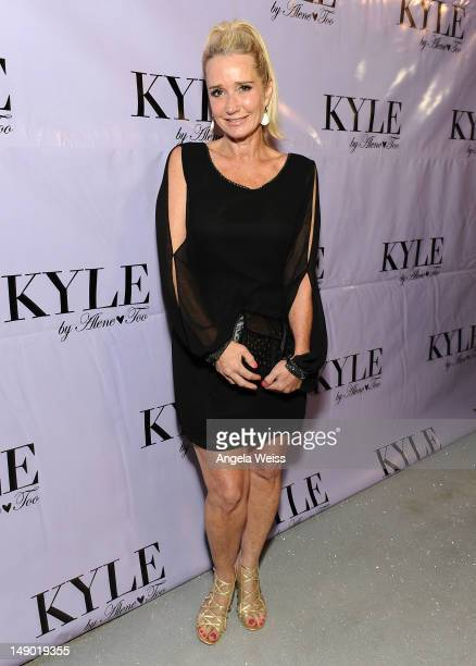 TV personality Kim Richards attends the preopening cocktail party of Kyle Richards' new boutique 'Kyle By Alene Too' on July 21 2012 in Beverly Hills...