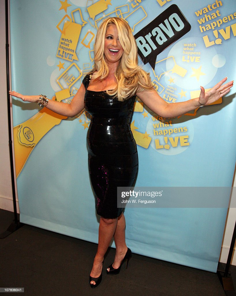 TV personality <a gi-track='captionPersonalityLinkClicked' href=/galleries/search?phrase=Kim+Zolciak&family=editorial&specificpeople=5446357 ng-click='$event.stopPropagation()'>Kim Zolciak</a> attends Bravo's 'Watch What Happens Live: Andy's New Year's Party' at the Bravo Club House at the Embassy Row Production Offices on December 31, 2010 in New York City.