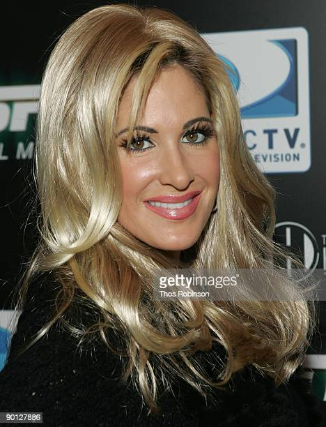 Personality Kim Zolciak attends the Direct TV and ESPN NFL Playoff Viewing Party on January 18th 2009 in Park City Utah