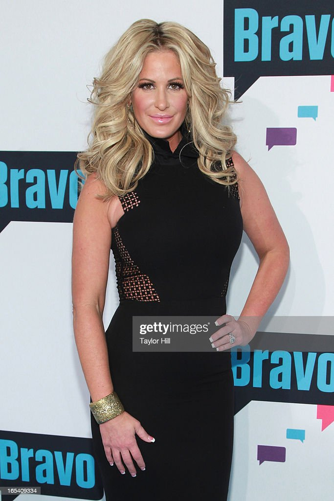 TV personality Kim Zolciak of 'Don't be Tardy...' attends the 2013 Bravo Upfront at Pillars 37 Studios on April 3, 2013 in New York City.