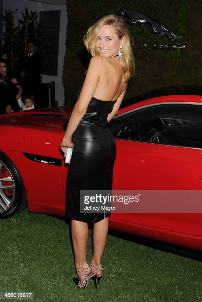 TV personality Kimberley Garner attends the Jaguar North America and BritWeek present a Villainous Affair held at The London on May 2 2014 in West...