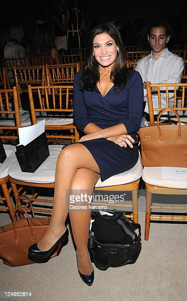 Personality Kimberly Guilfoyle attends the Douglas Hannant Spring 2012 fashion show during MercedesBenz Fashion Week at The Plaza Terrace Room on...