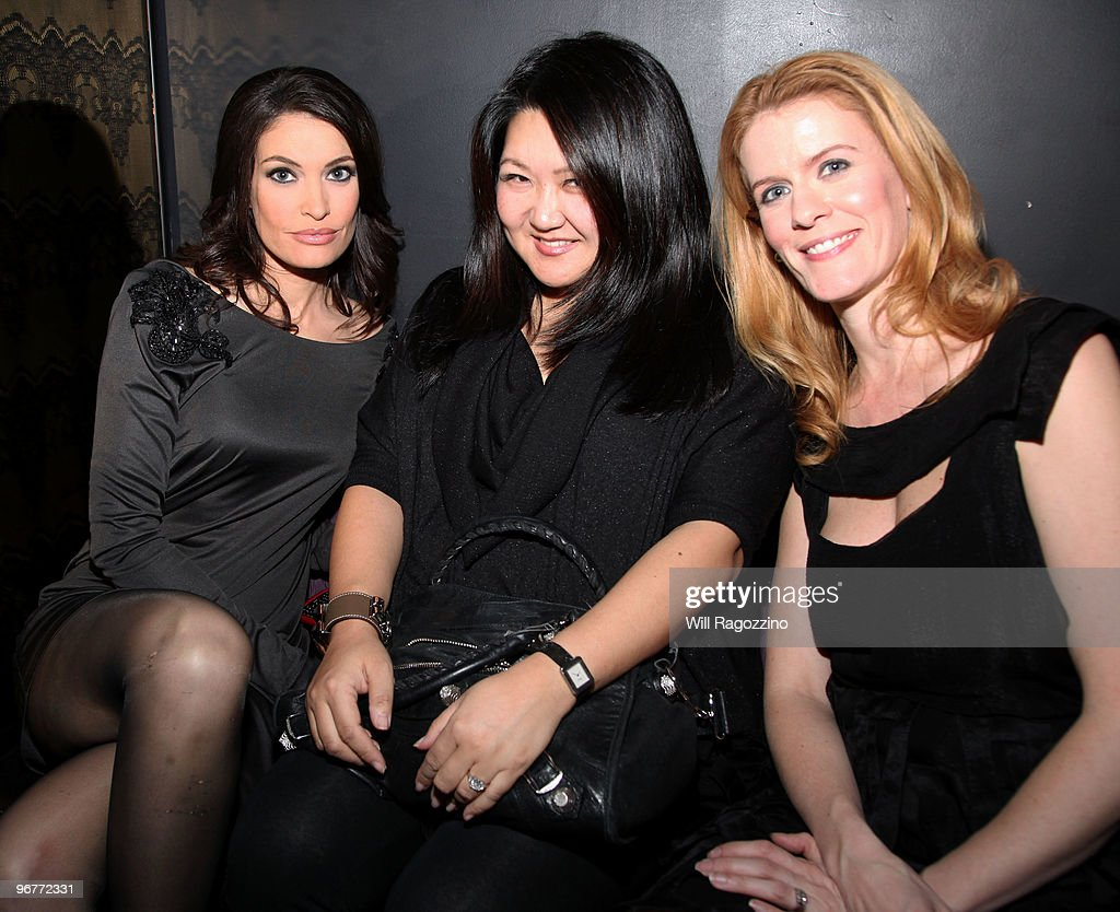 TV personality Kimberly Guilfoyle, Susan Chin and TV personality Alex McCord attend a special cocktail party to celebrate the release of the Los Angeles Times Oscar issue at Provacateur on February 16, 2010 in New York City.