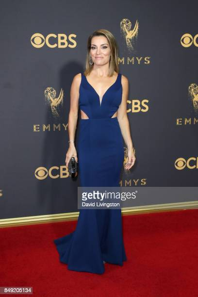 TV personality Kit Hoover attends the 69th Annual Primetime Emmy Awards Arrivals at Microsoft Theater on September 17 2017 in Los Angeles California