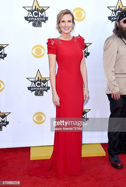 TV personality Korie Robertson attends the 50th Academy of Country Music Awards at ATT Stadium on April 19 2015 in Arlington Texas
