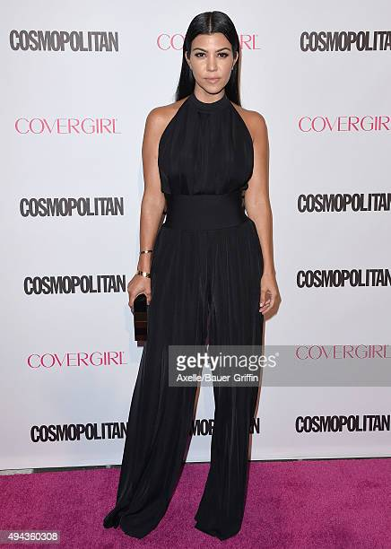 TV personality Kourtney Kardashian arrives at Cosmopolitan Magazine's 50th Birthday Celebration at Ysabel on October 12 2015 in West Hollywood...
