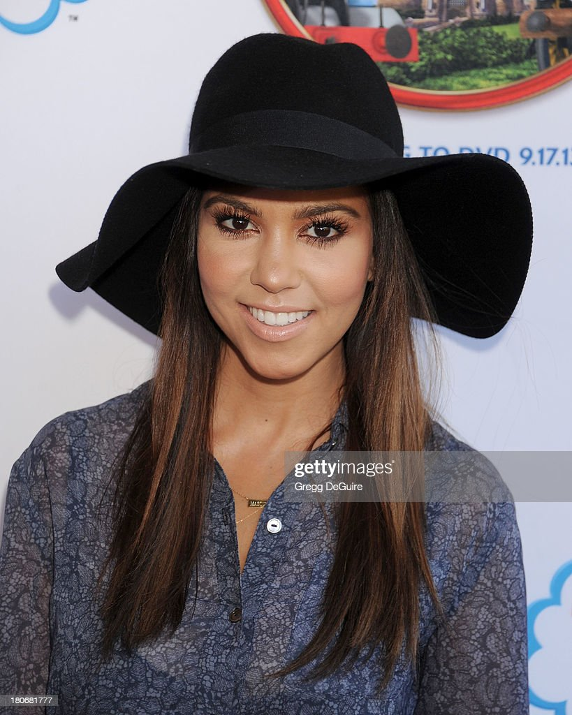 TV personality <a gi-track='captionPersonalityLinkClicked' href=/galleries/search?phrase=Kourtney+Kardashian&family=editorial&specificpeople=3955024 ng-click='$event.stopPropagation()'>Kourtney Kardashian</a> arrives at the Los Angeles premiere of 'Thomas & Friends: King Of The Railway - The Movie' at Pacific Theatre at The Grove on September 15, 2013 in Los Angeles, California.