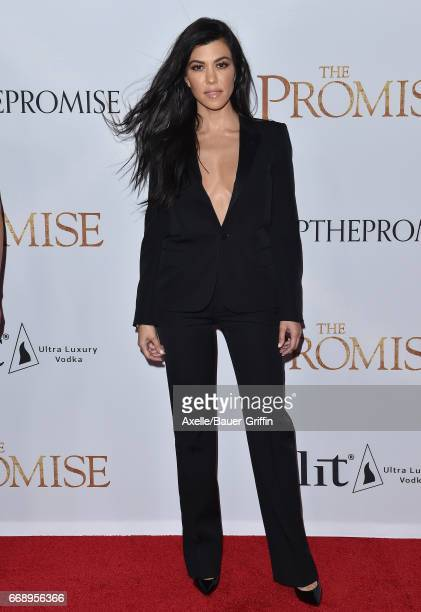 TV personality Kourtney Kardashian arrives at the Premiere of Open Road Films' 'The Promise' at TCL Chinese Theatre on April 12 2017 in Hollywood...