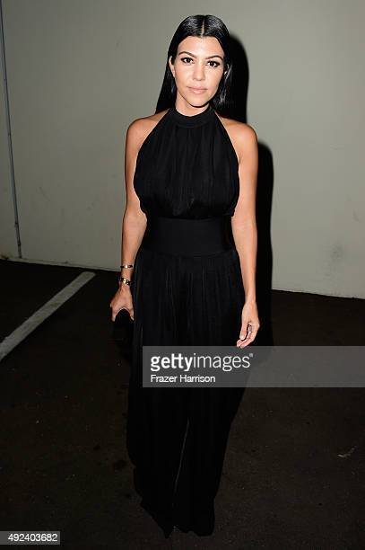 TV personality Kourtney Kardashian attends Cosmopolitan's 50th Birthday Celebration at Ysabel on October 12 2015 in West Hollywood California