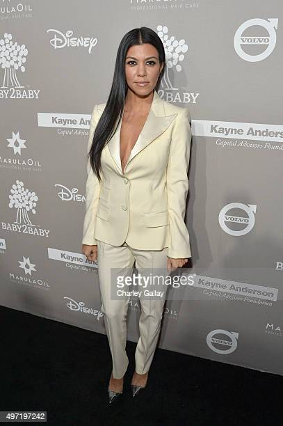 TV personality Kourtney Kardashian attends the 2015 Baby2Baby Gala presented by MarulaOil Kayne Capital Advisors Foundation honoring Kerry Washington...