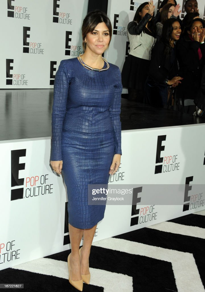 TV personality Kourtney Kardashian attends the E! 2013 Upfront at The Grand Ballroom at Manhattan Center on April 22, 2013 in New York City.