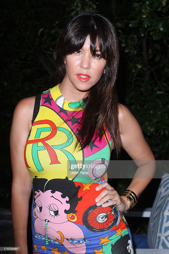 TV personality Kourtney Kardashian attends the Wildfox Swim Cruise 2014 VIP BBQ at Soho Beach House on July 21, 2013 in Miami Beach, Florida.
