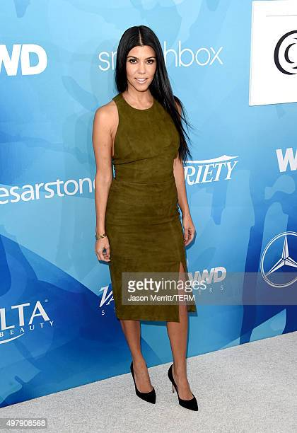 TV personality Kourtney Kardashian attends the WWD And Variety inaugural stylemakers' event at Smashbox Studios on November 19 2015 in Culver City...
