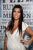 Personality Kourtney Kardashian attends Women's Health Hosts Hamptons 'Party Under The Stars' for RUN10 FEED10 at Bridgehampton Tennis and Surf Club...