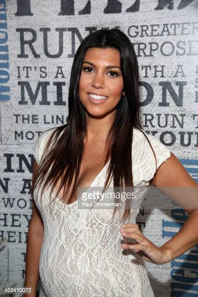 Personality Kourtney Kardashian attends Women's Health Hosts Hamptons 'Party Under The Stars' for RUN10 FEED10 at Bridgehampton Tennis and Surf Club...