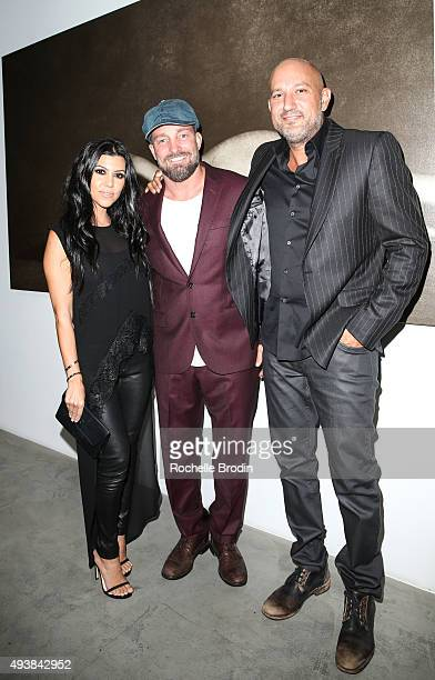 TV personality Kourtney Kardashian Brian Bowen Smith and Steph Sebbag attend 'Metallic Life' by Brian Bowen Smith brought to you by CASAMIGOS Tequila...