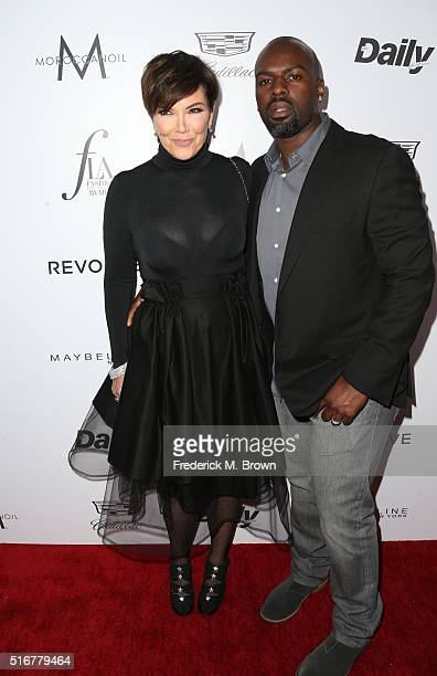 Personality Kris Jenner and Corey Gamble attend the Daily Front Row 'Fashion Los Angeles Awards' at Sunset Tower Hotel on March 20 2016 in West...