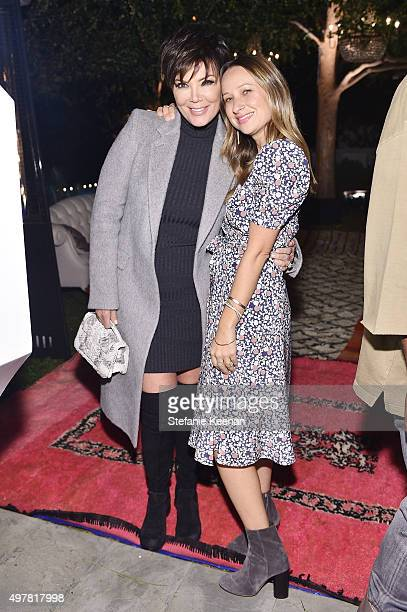 Personality Kris Jenner and Designer Jennifer Meyer attend Barneys New York Jennifer Aniston and Tobey Maguire host a private dinner to celebrate The...