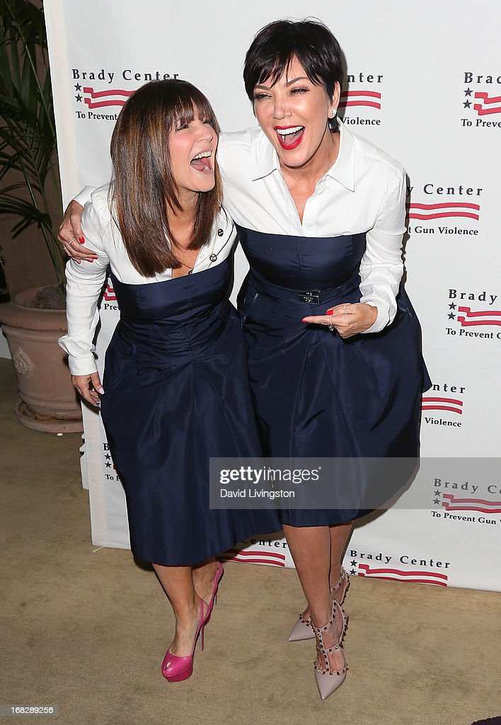 TV personality <a gi-track='captionPersonalityLinkClicked' href=/galleries/search?phrase=Kris+Jenner&family=editorial&specificpeople=762610 ng-click='$event.stopPropagation()'>Kris Jenner</a> (R) and Shelli Azoff attend the Brady Campaign To Prevent Gun Violence 2013 Los Angeles Benefit Event at the Beverly Hills Hotel on May 7, 2013 in Beverly Hills, California.