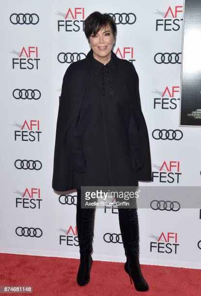TV personality Kris Jenner arrives at the AFI FEST 2017 presented by Audi screening of 'The Disaster Artist' at TCL Chinese Theatre on November 12...