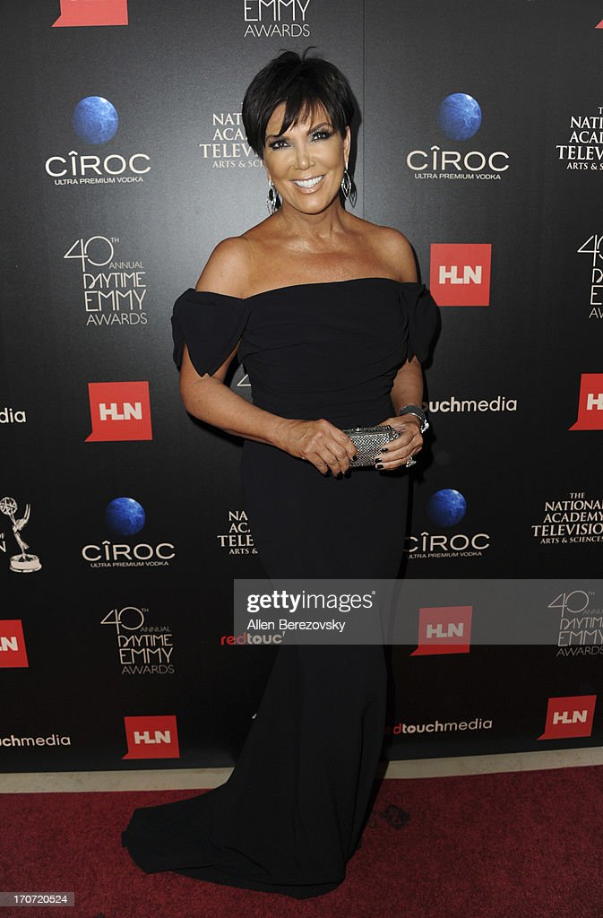 TV personality <a gi-track='captionPersonalityLinkClicked' href=/galleries/search?phrase=Kris+Jenner&family=editorial&specificpeople=762610 ng-click='$event.stopPropagation()'>Kris Jenner</a> attends 40th Annual Daytime Entertaimment Emmy Awards - Arrivals at The Beverly Hilton Hotel on June 16, 2013 in Beverly Hills, California.