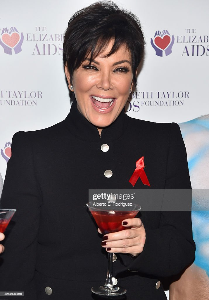 Kim Kardashian Raises Toast For Elizabeth Taylor Foundation/World AIDS Day At The Abbey