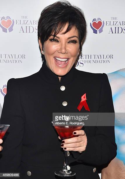 TV personality Kris Jenner attends Kim Kardashian raising a toast for the Elizabeth Taylor AIDS Foundation and World AIDS Day at The Abbey on...