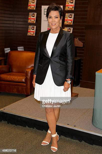 TV personality Kris Jenner attends the signing for 'In The Kitchen With Kris' at Barnes Noble bookstore at The Grove on October 28 2014 in Los...