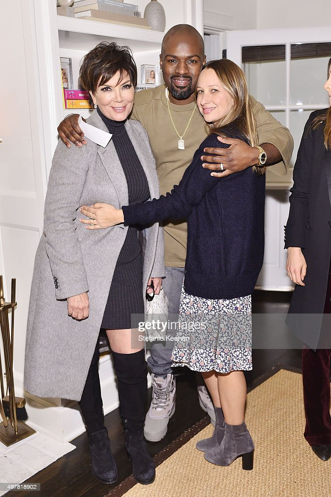 Personality Kris Jenner Corey Gamble and designer Jennifer Meyer attend Barneys New York Jennifer Aniston and Tobey Maguire host a private dinner to...