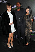 TV personality Kris Jenner Corey Gamble and TV personality Kourtney Kardashian attend Sean 'Diddy' Combs' Exclusive Birthday Celebration on November...