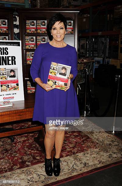 TV personality Kris Jenner signs copies of her new book 'In The Kitchen With Kris' at Costco on October 25 2014 in Westlake Village California