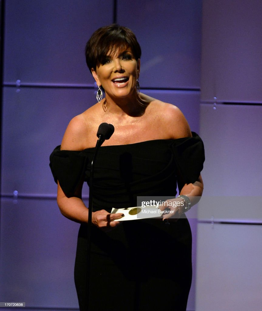 TV personality <a gi-track='captionPersonalityLinkClicked' href=/galleries/search?phrase=Kris+Jenner&family=editorial&specificpeople=762610 ng-click='$event.stopPropagation()'>Kris Jenner</a> speaks onstage during the 40th Annual Daytime Emmy Awards at the Beverly Hilton Hotel on June 16, 2013 in Beverly Hills, California. 23774_001_2614.JPG