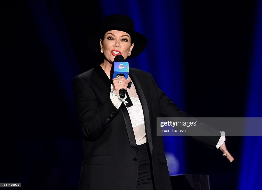 TV personality Kris Jenner speaks onstage during the first ever iHeart80s Party at The Forum on February 20 2016 in Inglewood California