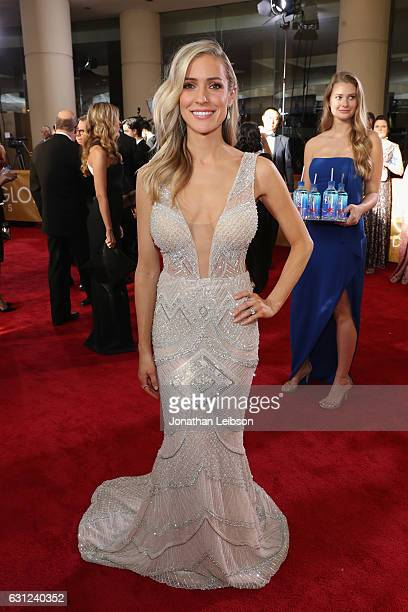 Personality Kristin Cavallari at the 74th annual Golden Globe Awards sponsored by FIJI Water at The Beverly Hilton Hotel on January 8 2017 in Beverly...