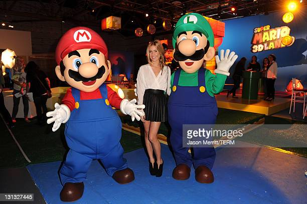 TV personality Kristin Cavallari attends Nintendo's celebration of the launch of Super Mario 3D Land at Siren Studios on November 3 2011 in Hollywood...
