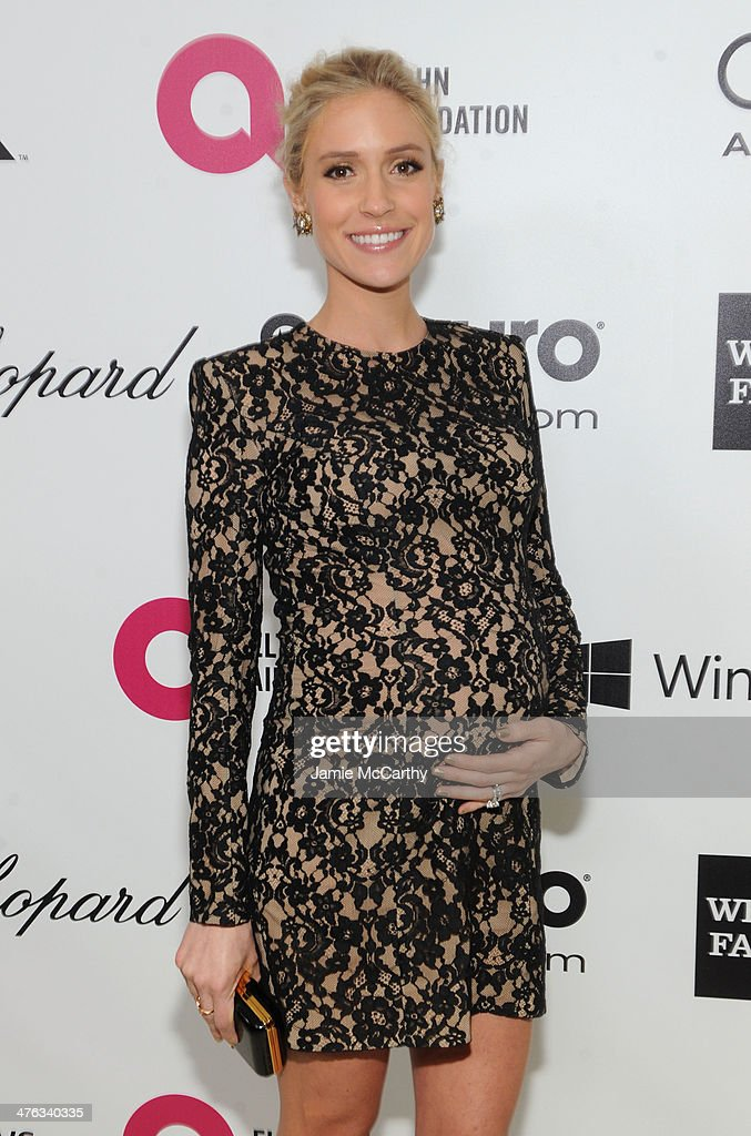 TV personality Kristin Cavallari attends the 22nd Annual Elton John AIDS Foundation Academy Awards Viewing Party at The City of West Hollywood Park on March 2, 2014 in West Hollywood, California.