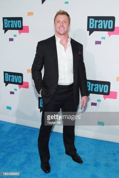 TV personality Kroy Biermann of 'Don't Be Tardy' attends the 2013 Bravo Upfront at Pillars 37 Studios on April 3 2013 in New York City