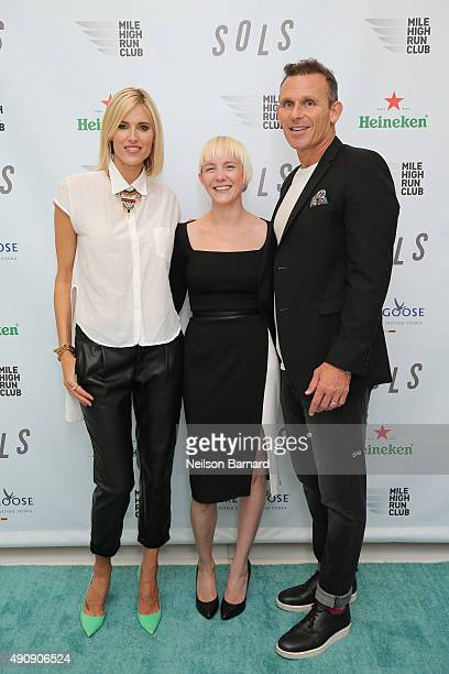 TV personality Krtisten Taekman Kegan Schouwenburg SOLS Founder/CEO and Josh Taekman attend the SOLS launch party for the new SOLS Flex on October 1...